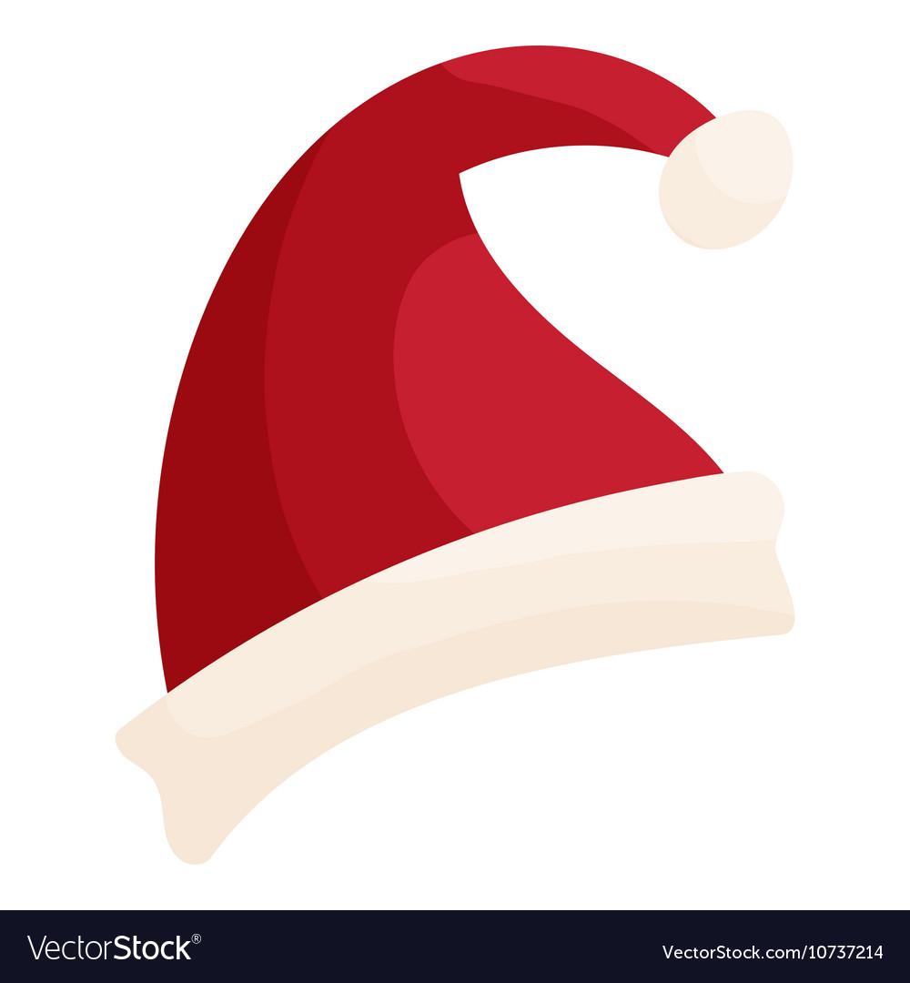 Christmas Hat Cartoon.Santa Hat Icon Cartoon Style