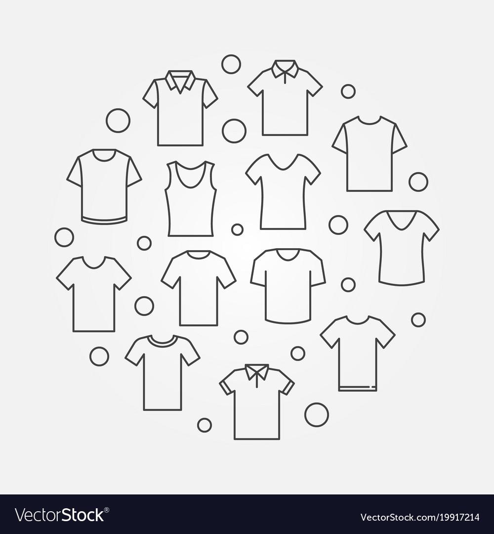T-shirt round tshirt symbol