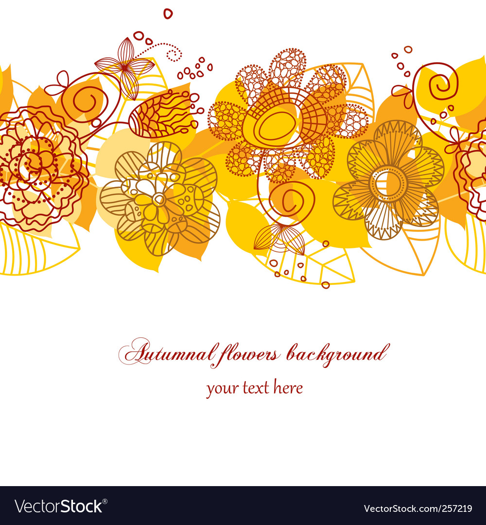 autumn flowers background royalty free vector image  vectorstock