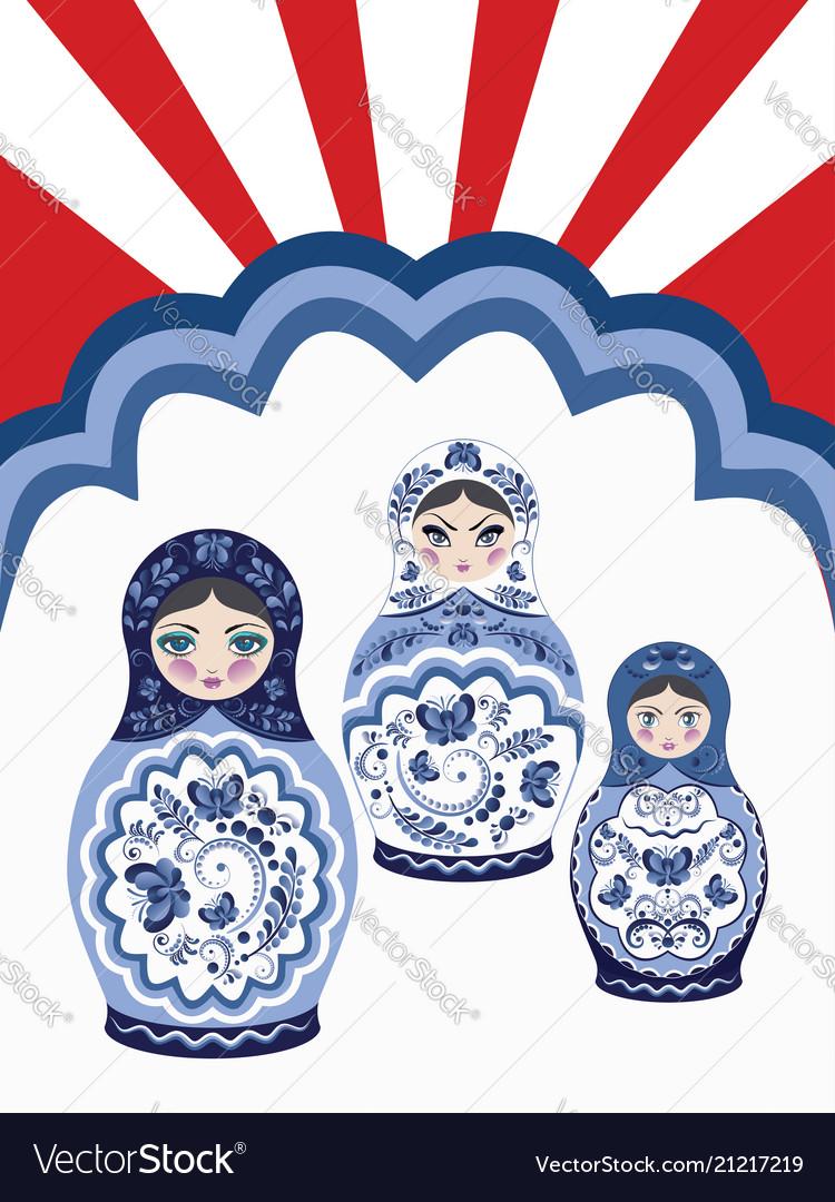 Background with matryoshka dolls