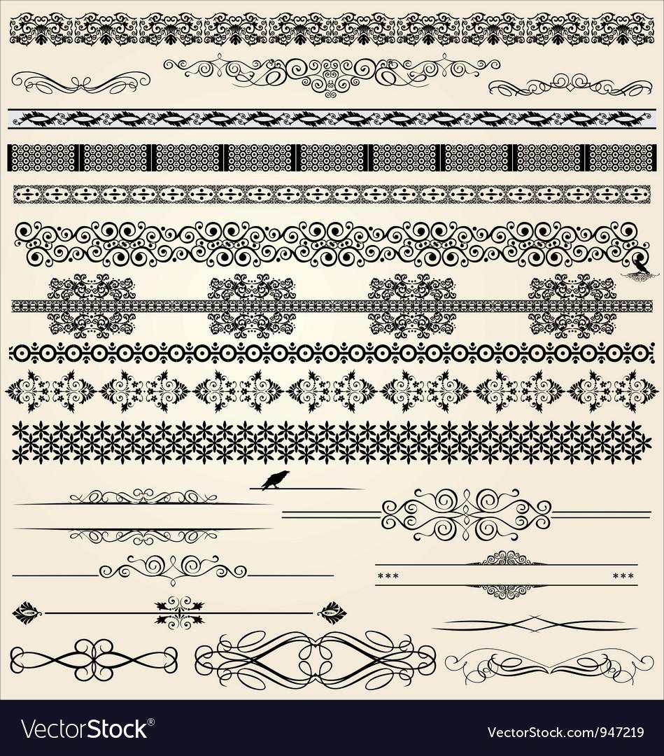 Calligraphic and decor design elements vector image