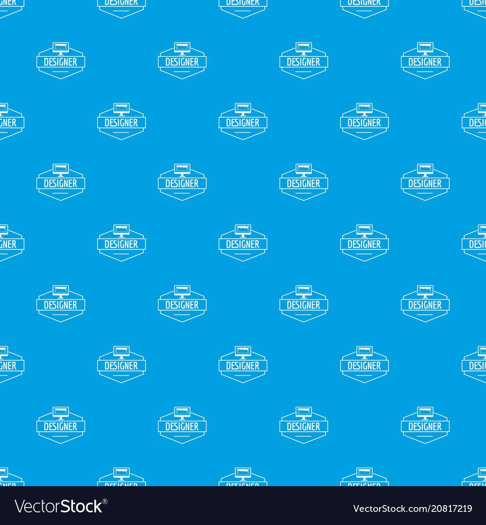 Designer pattern seamless blue