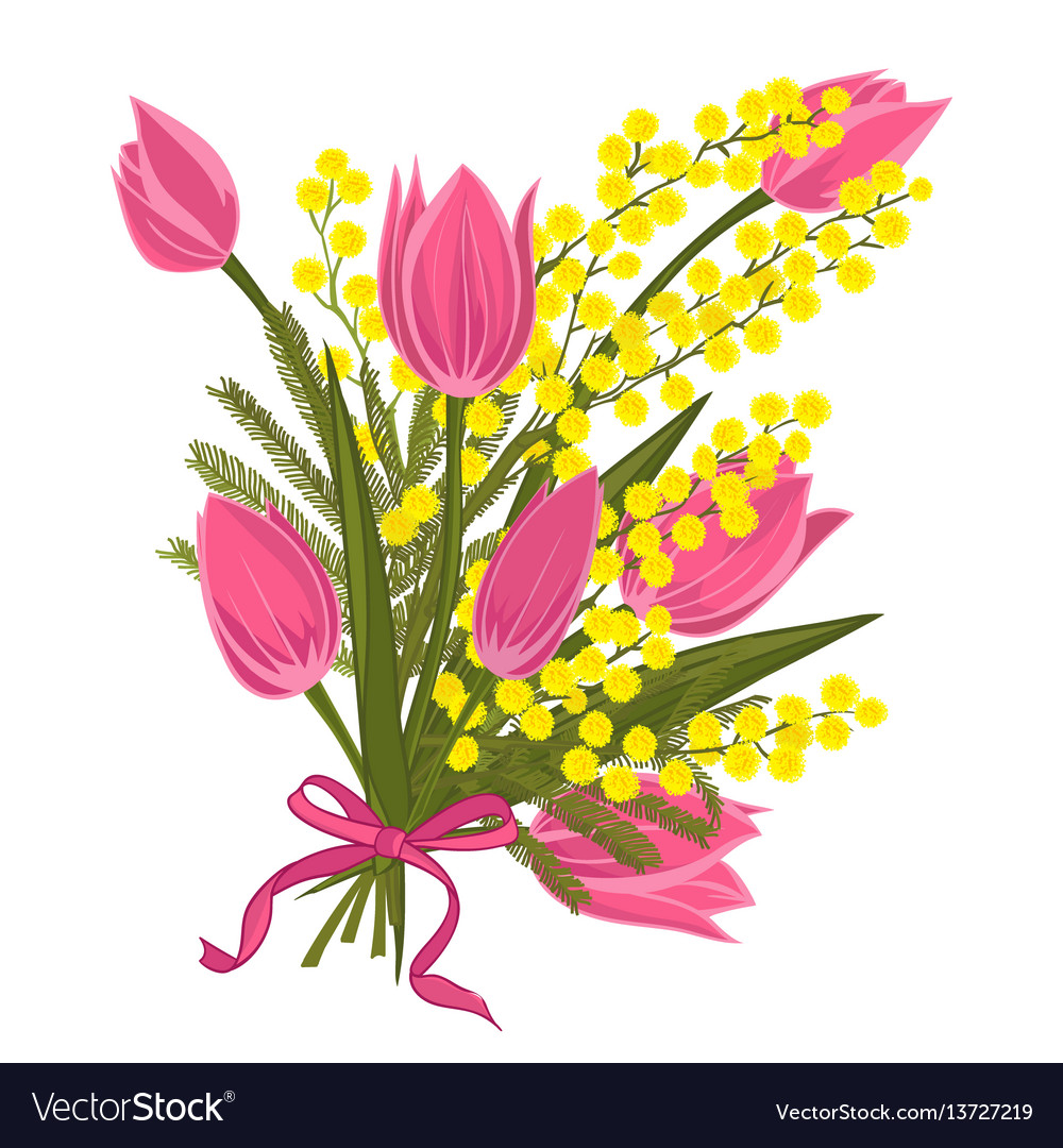 Spring floral background with beautiful bouquet of