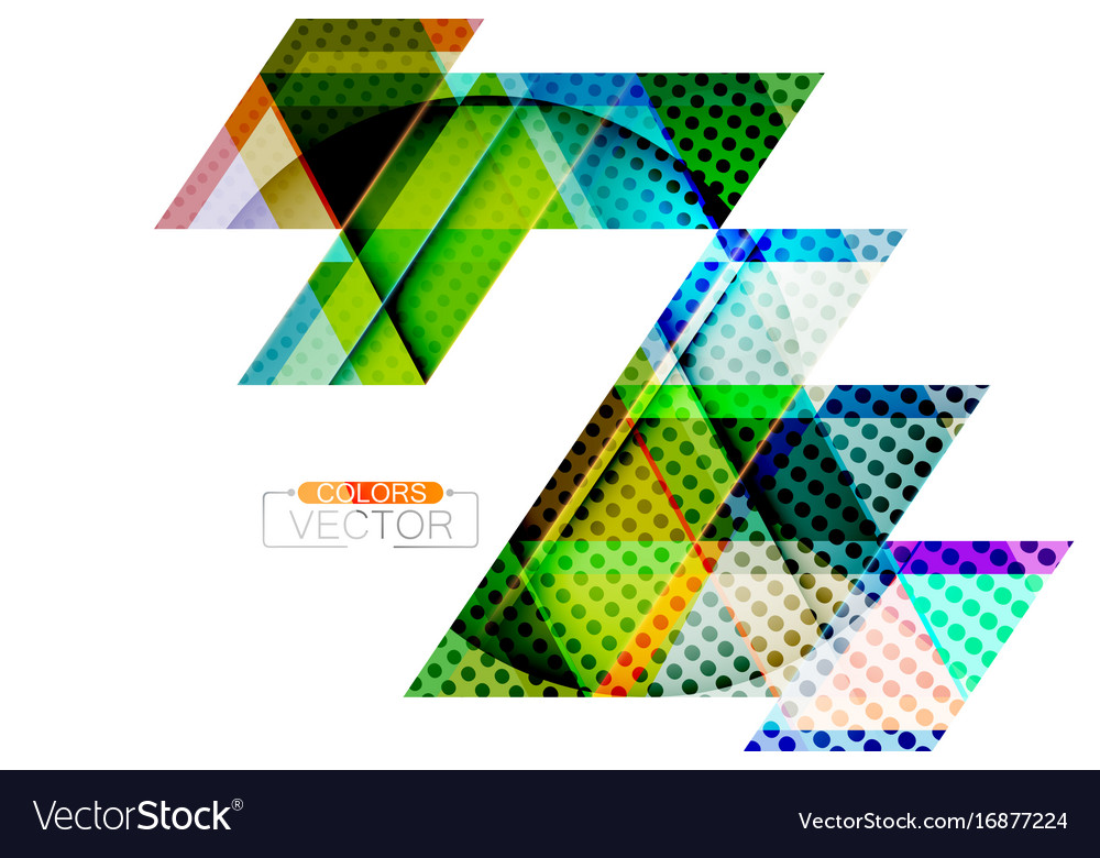 Abstract triangle shape scene