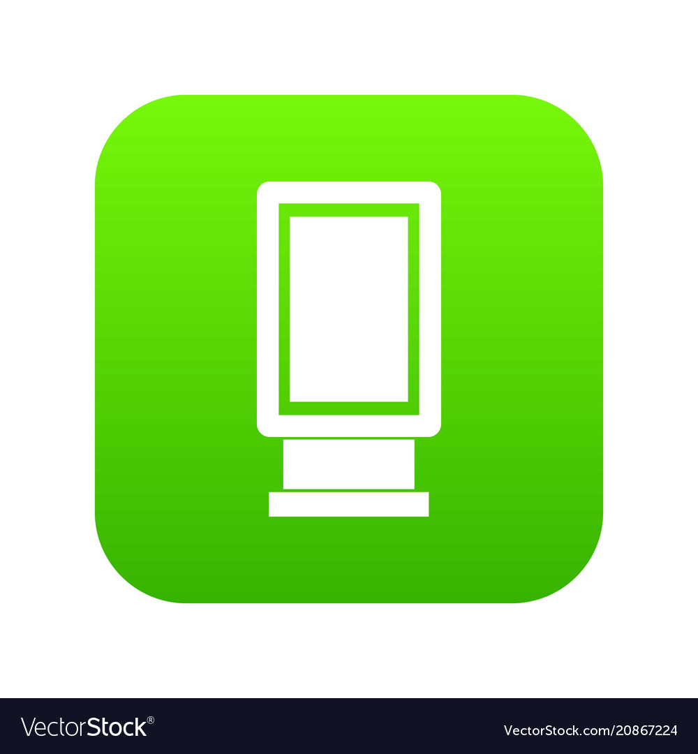 Advertising signs icon digital green