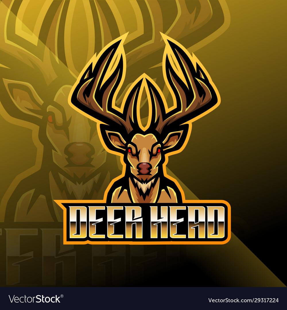 Deer head esport mascot logo design