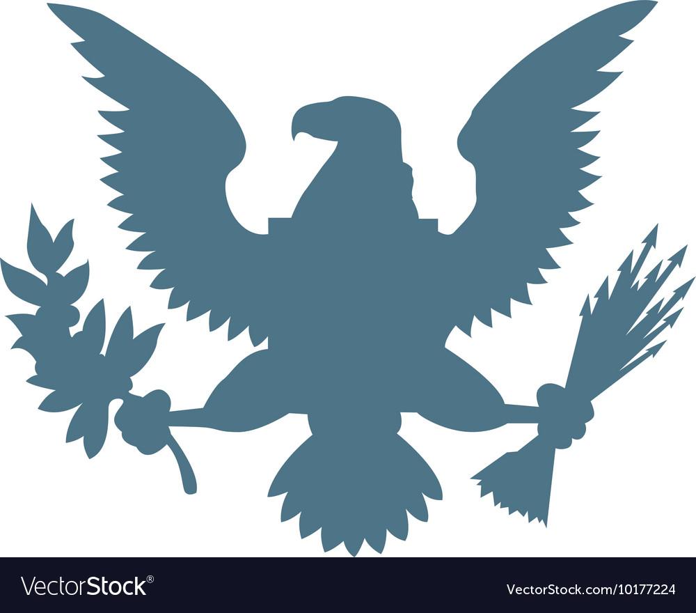 Eagle american symbol icon vector image