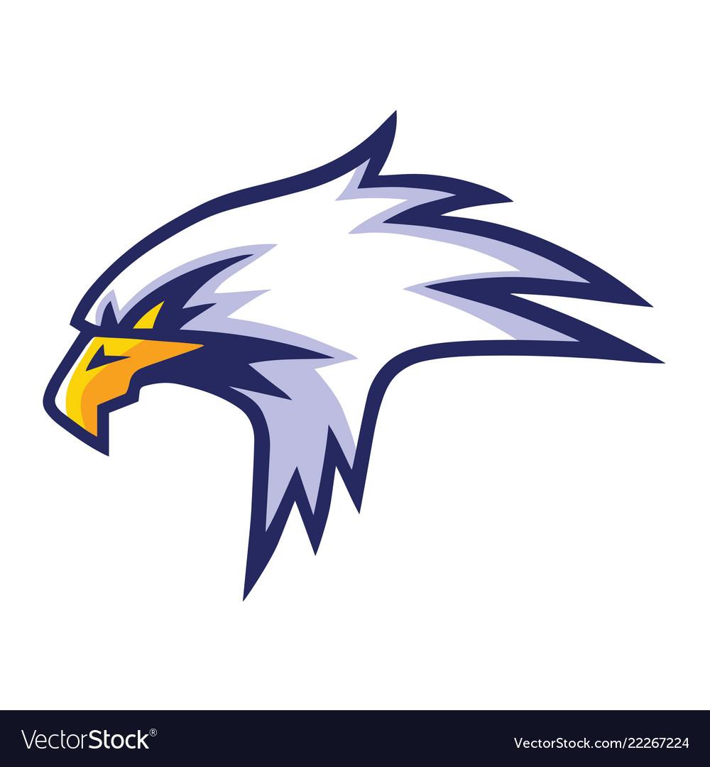 Eagle head mascot sports team logo template design