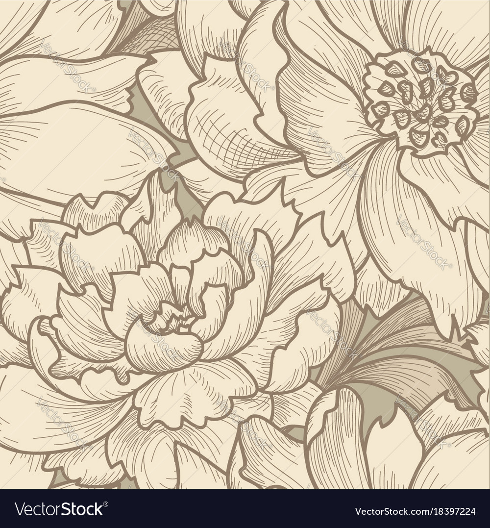 Floral seamless pattern flower background