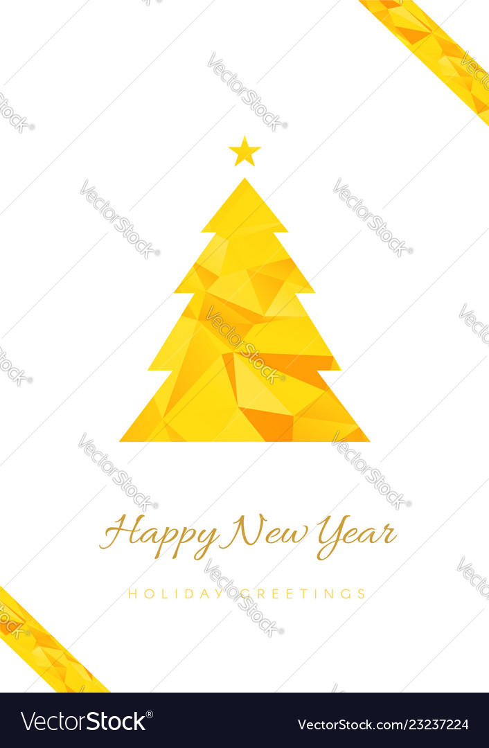 happy new year greeting card template royalty free vector
