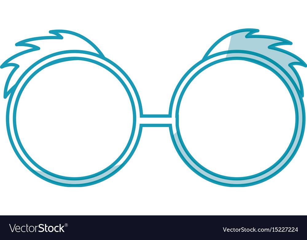 Shadow blue glasses cartoon vector image