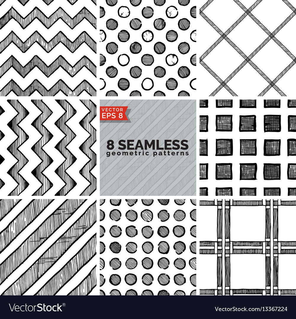 Simple geometric pattern vector image