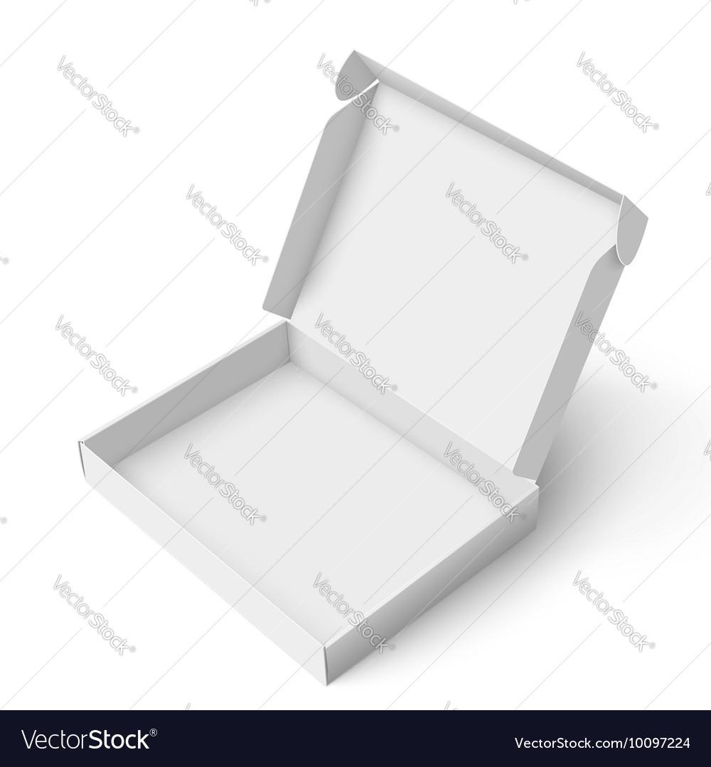 Slim cardboard box template