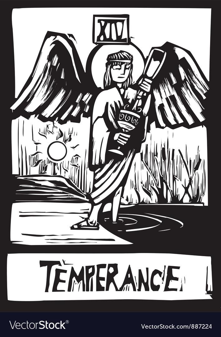 Tarot card for Temperance