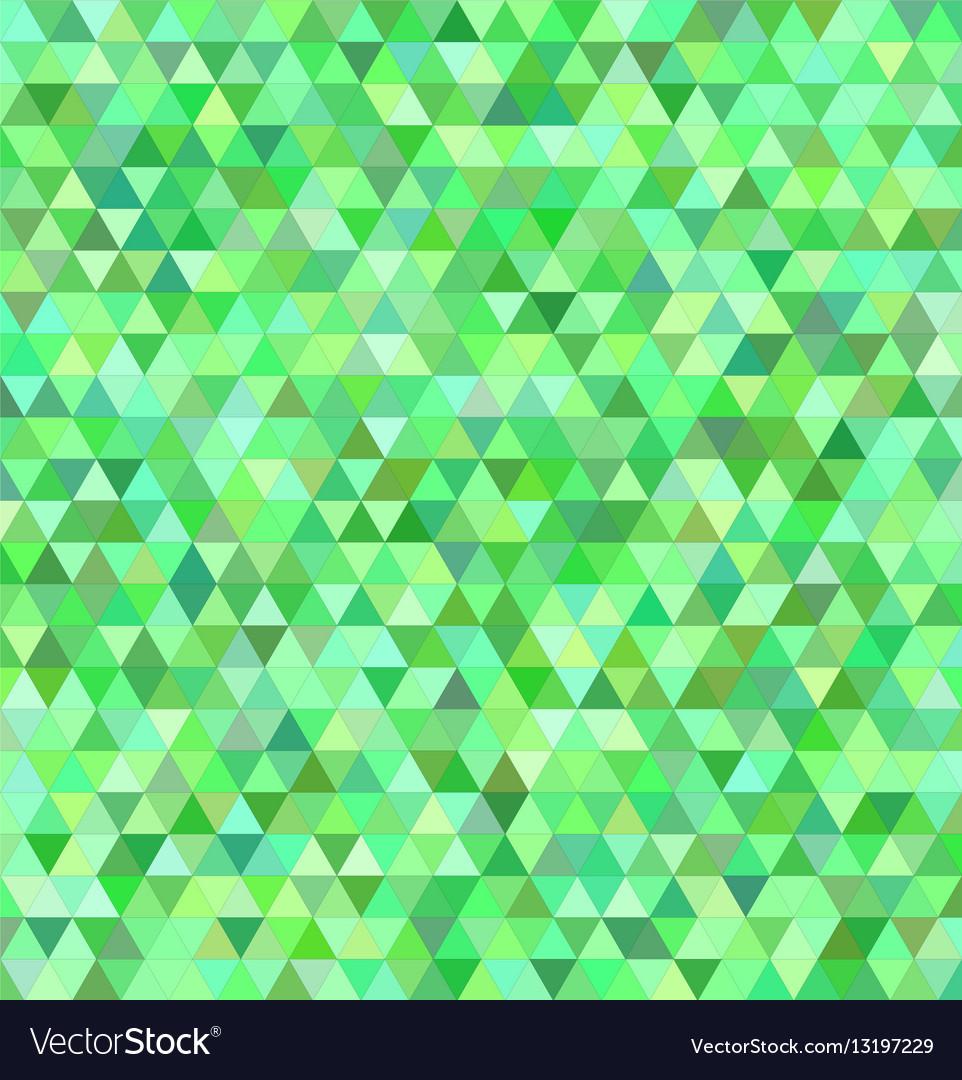 Green regular triangle mosaic background design vector image