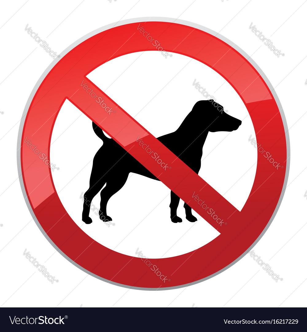 No dog walk sign dog walking fobidden symbol