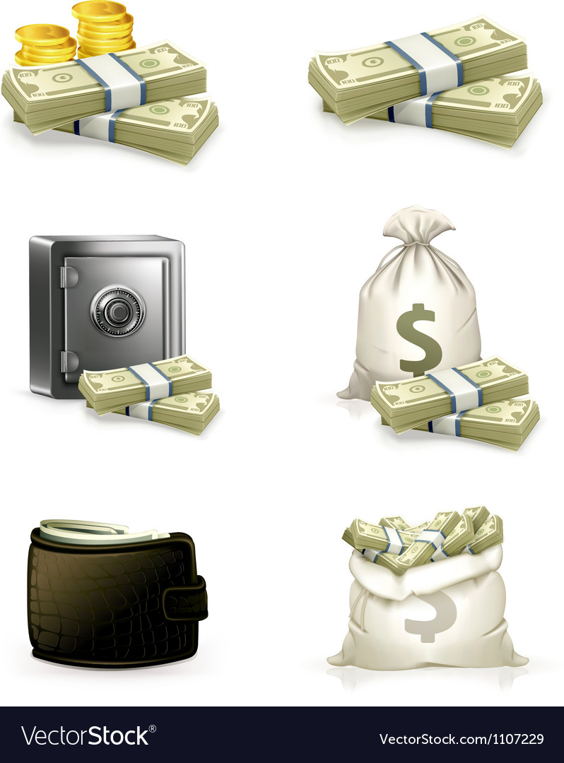 Paper money set vector image