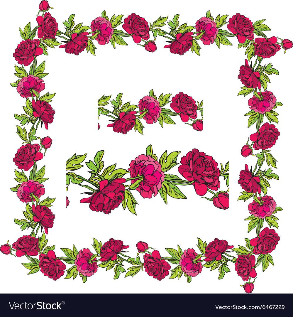 Set of ornaments - decorative hand drawn floral