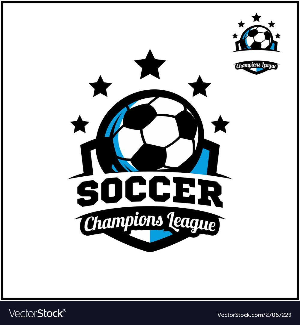 Sport Ball Champions League Logo Royalty Free Vector Image