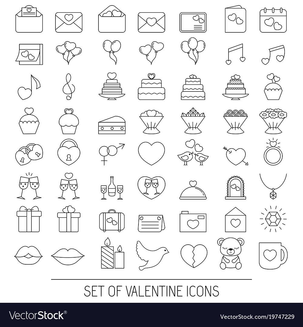 Valentine icons set valentine icons set