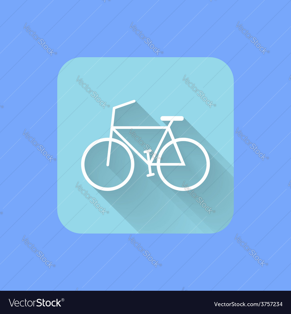 Bicycle flat design icon EPS vector image