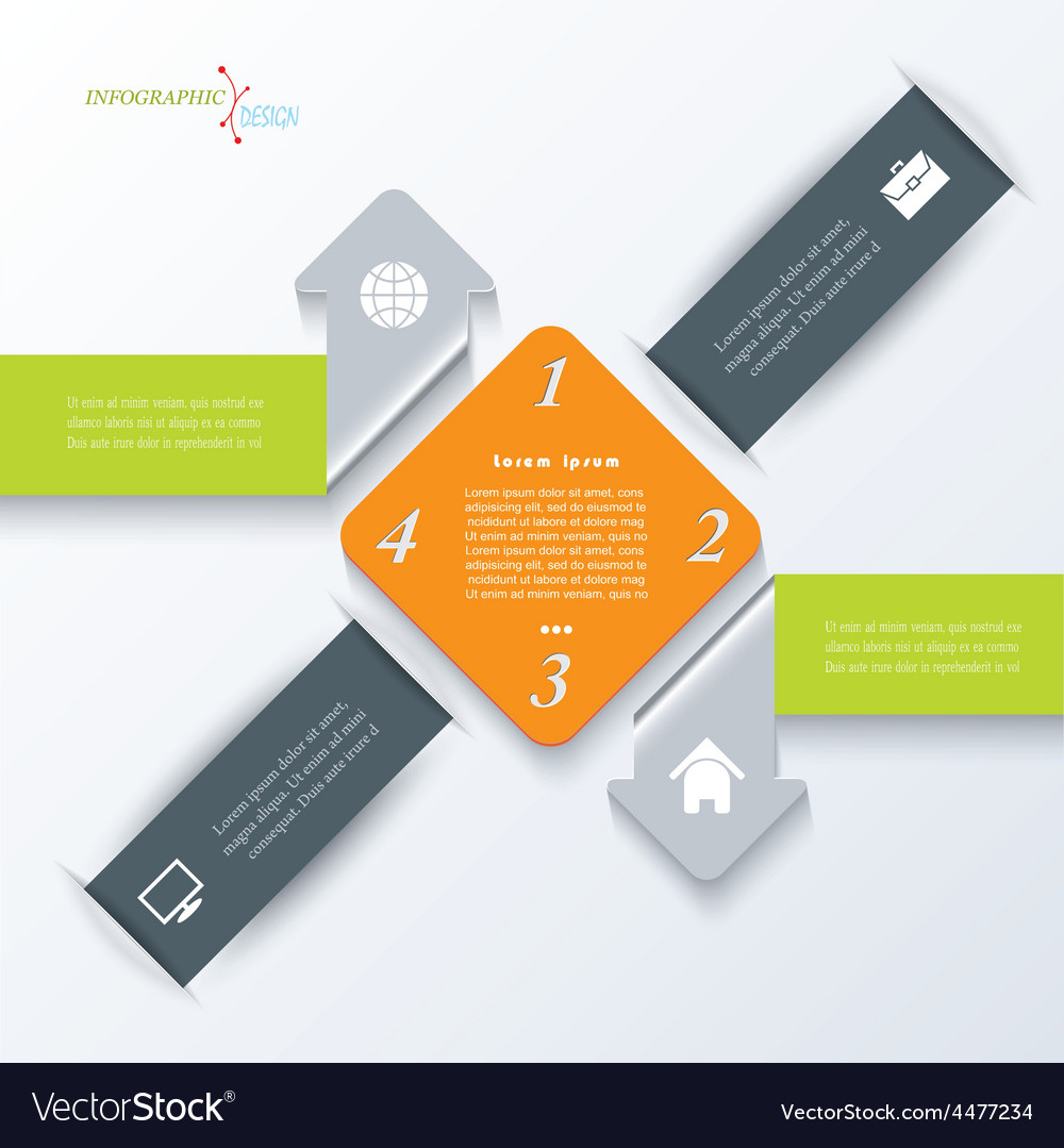 Business concept design with arrows Infographic vector image