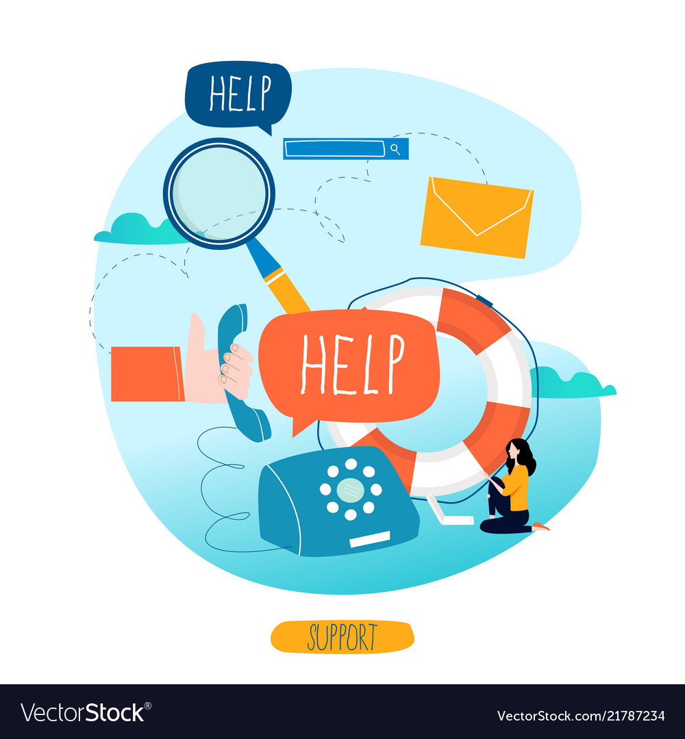 4bdffead9cc Customer service customer assistance call center Vector Image