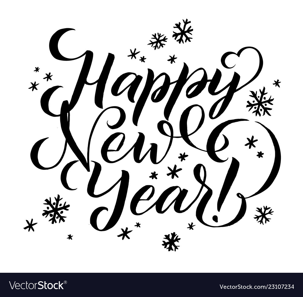 Happy New Year Lettering 23