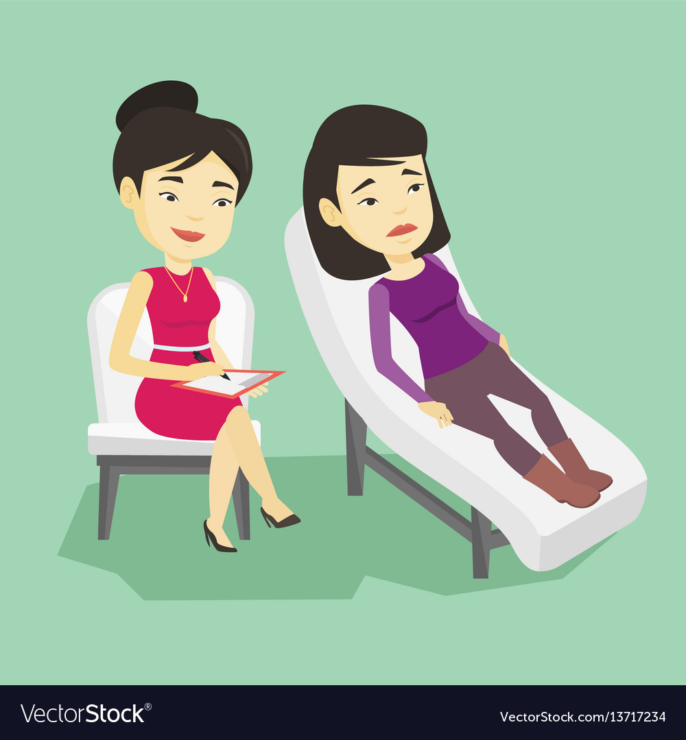 Psychologist having session with patient