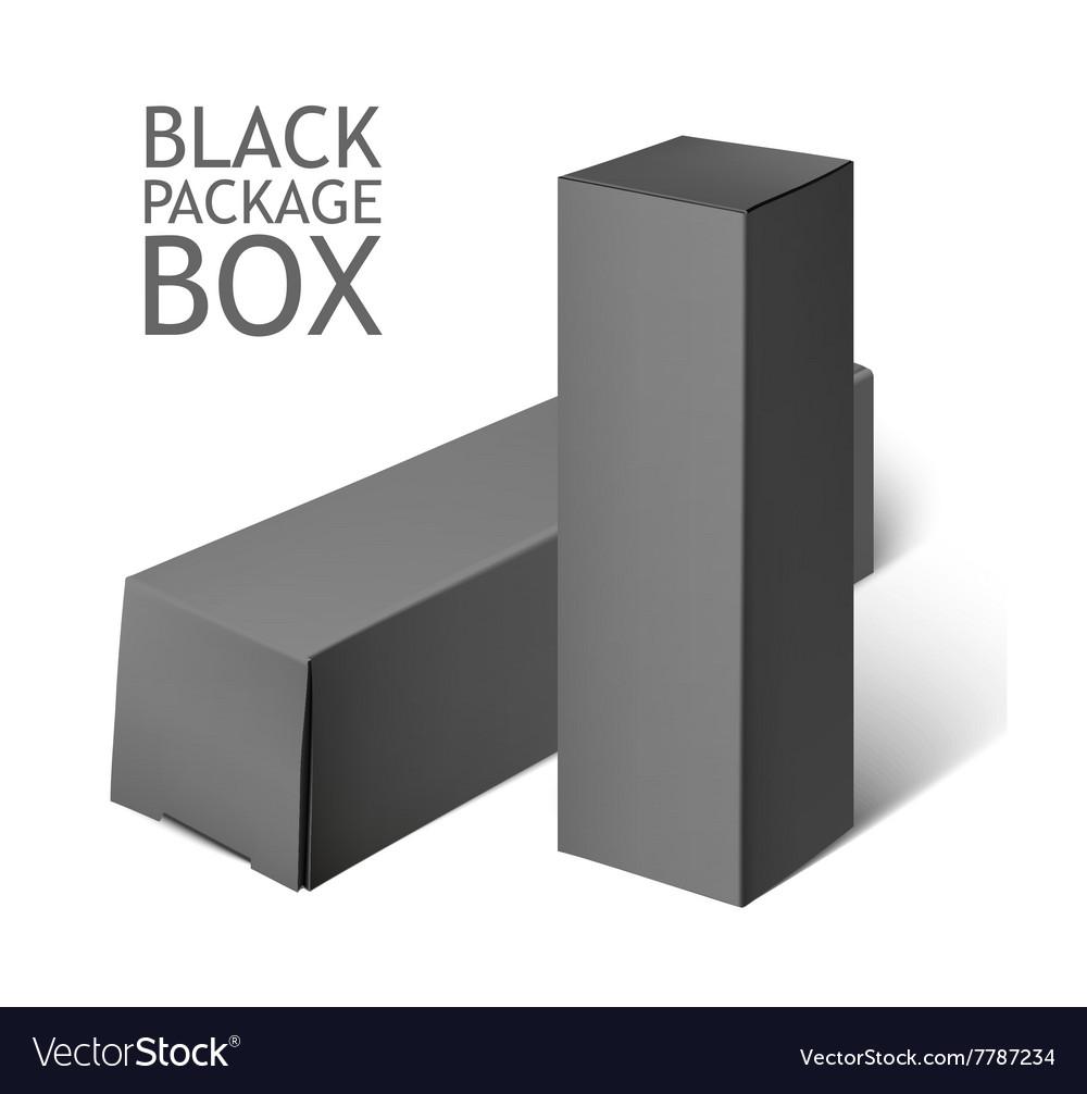 Set Of black Package Box Mockup Template