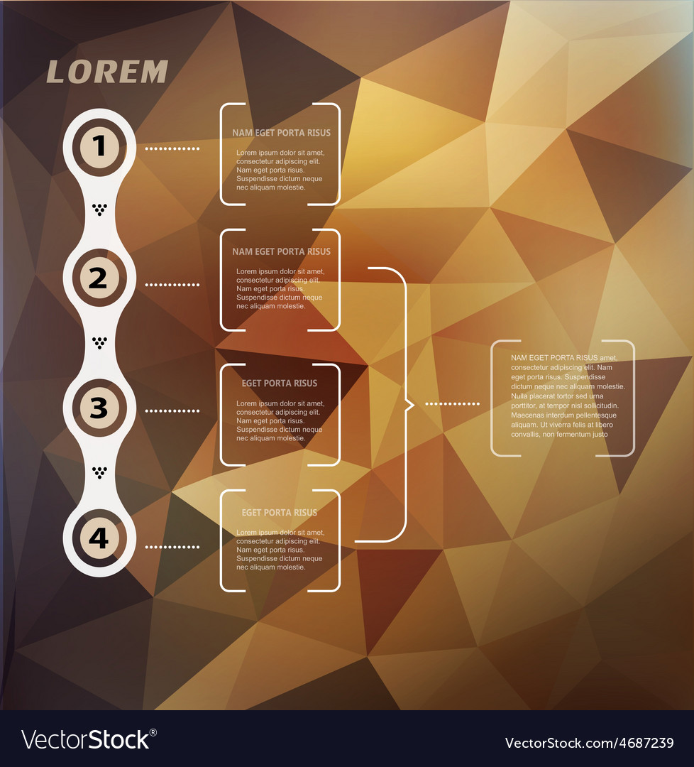 Abstract background with triangles and infographic vector image