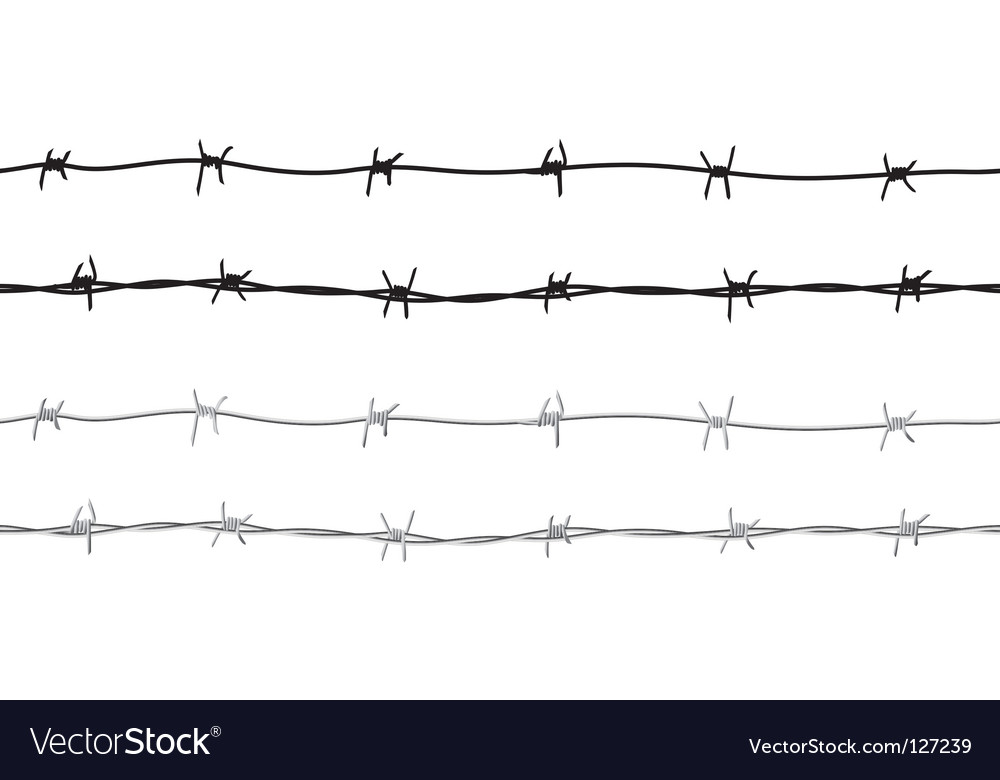 barbed wire border royalty free vector image vectorstock rh vectorstock com barbed wire vector image barbed wire vector brush