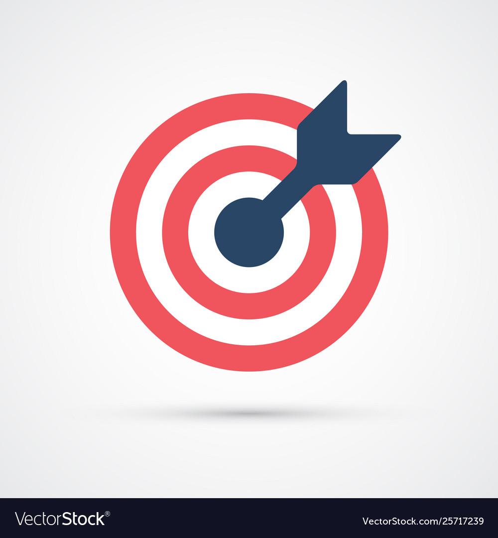 Colored target trendy symbol
