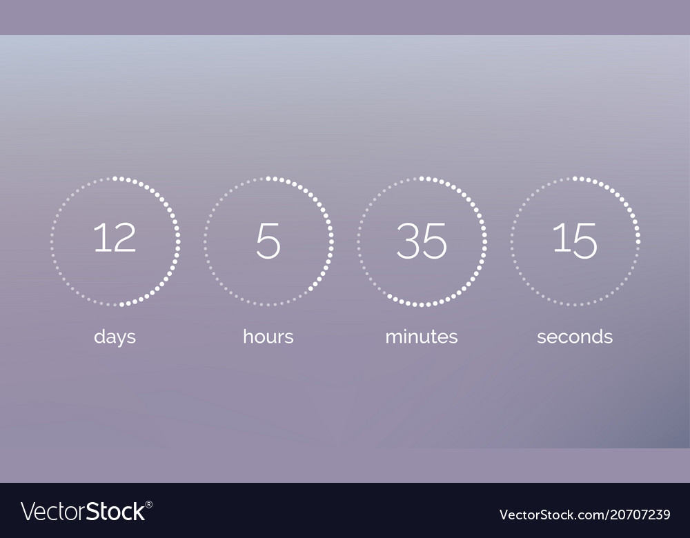 Countdown clock counter digital timer