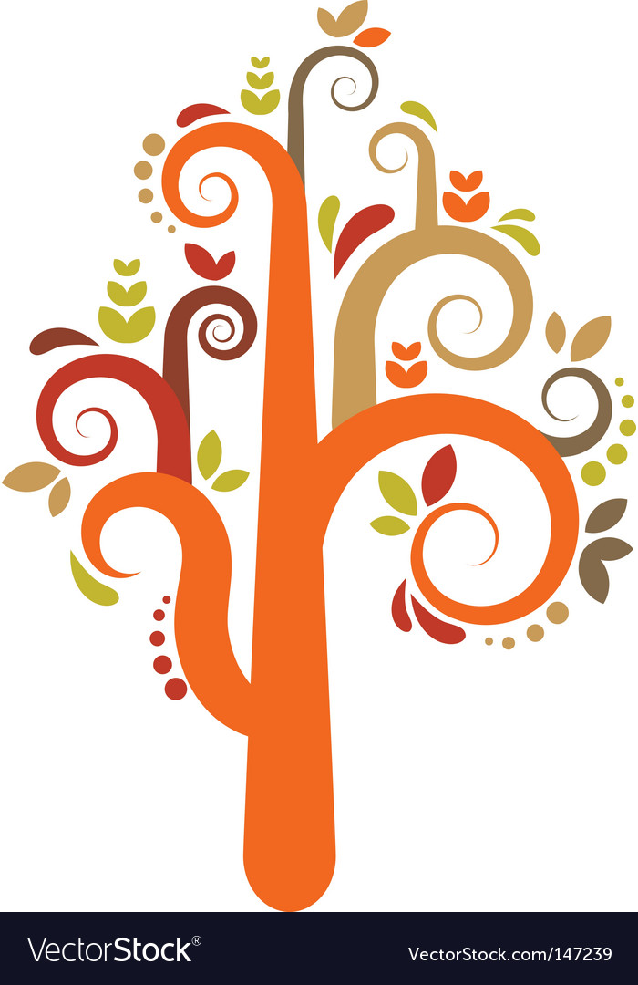 Decorative tree pattern