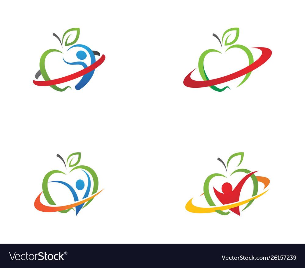Healthy apple design icon