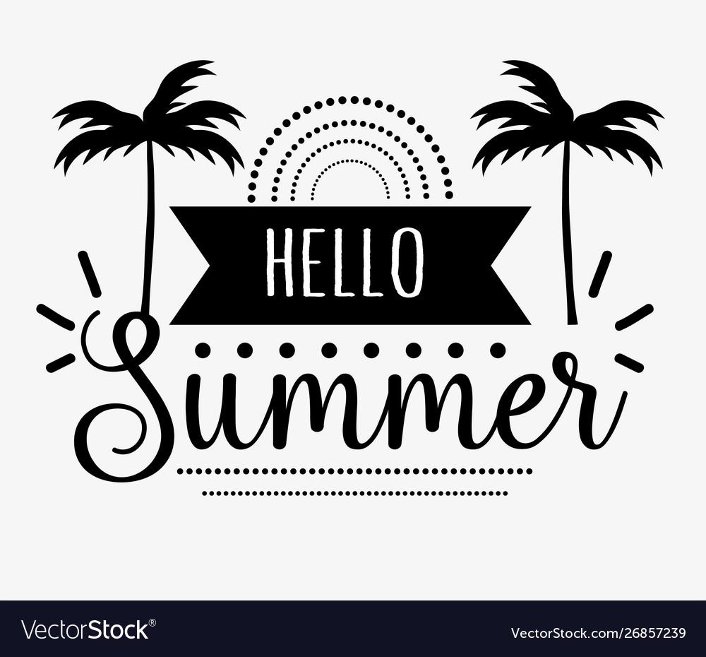 Hello summer greeting card design