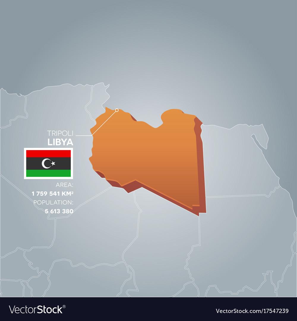 Libya Information Map Royalty Free Vector Image