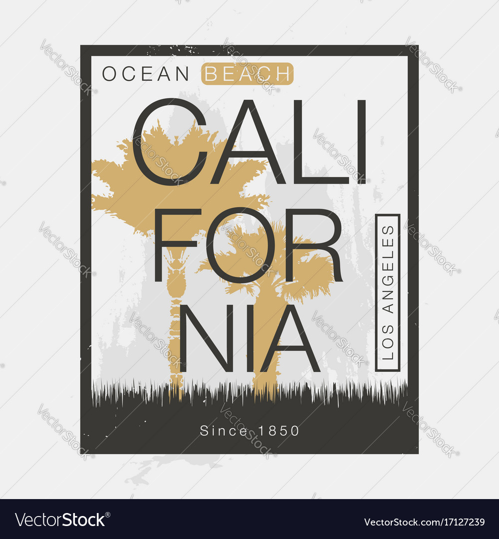 Los angeles california t-shirt graphics vintage vector image