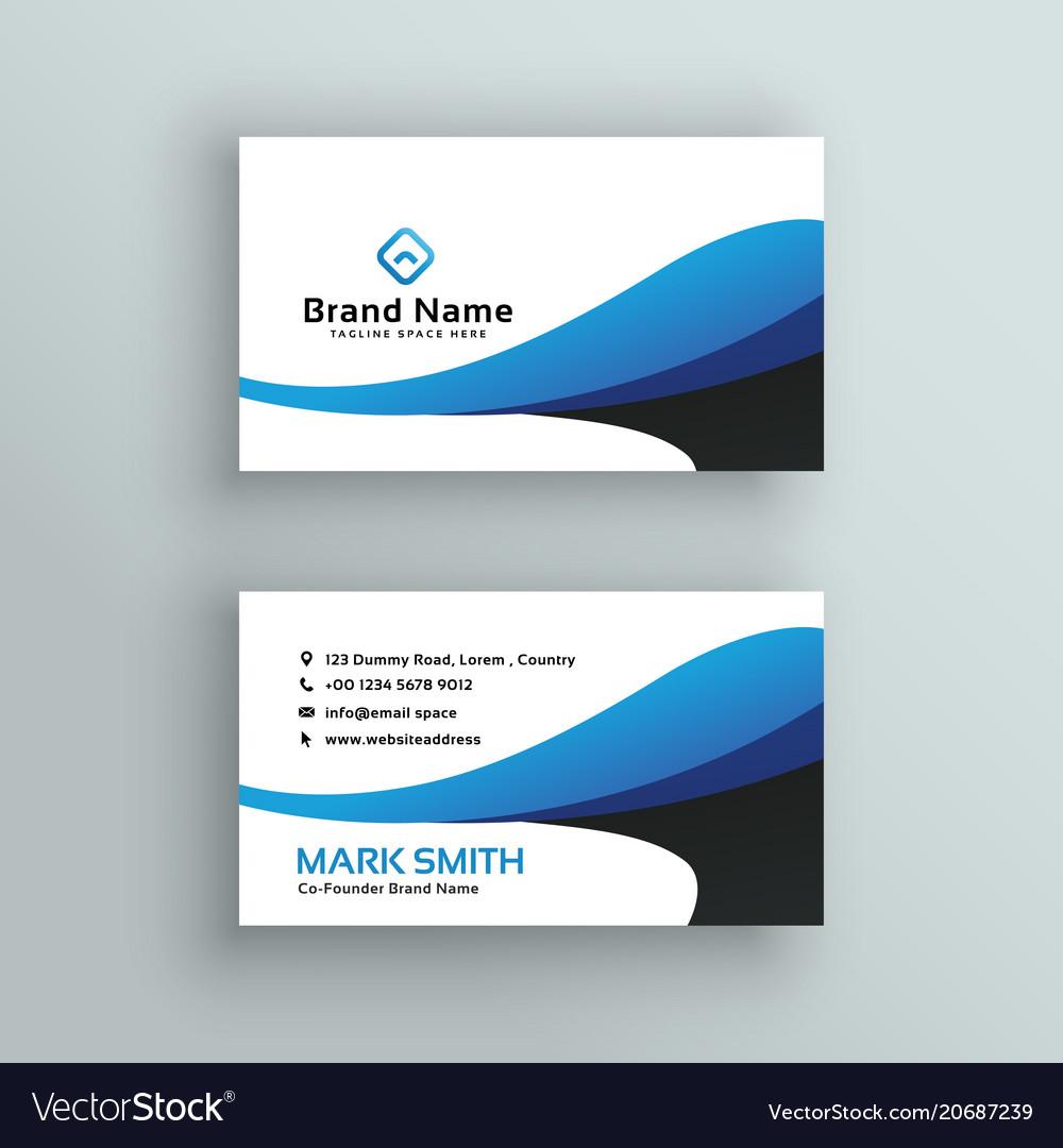 Modern Creative Business Card Design Royalty Free Vector