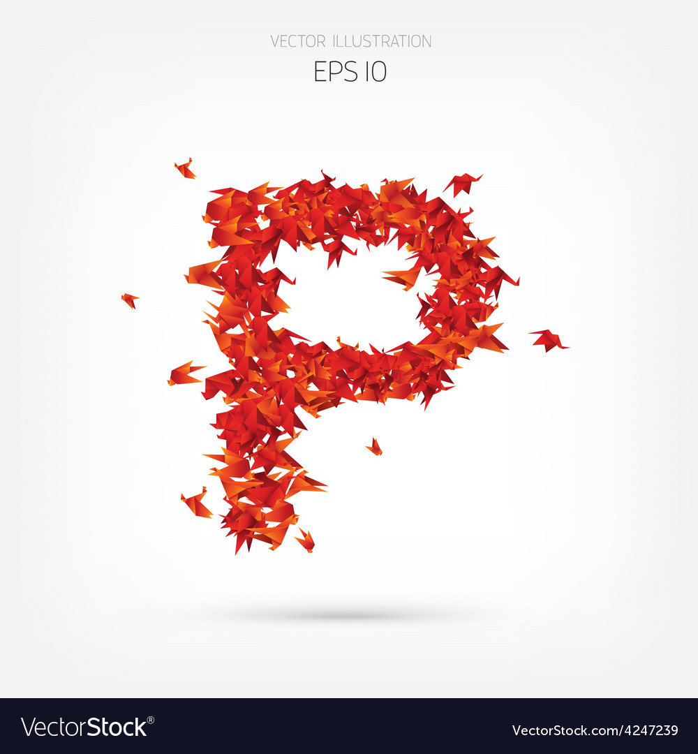 Letter P Wing Vector Images 26