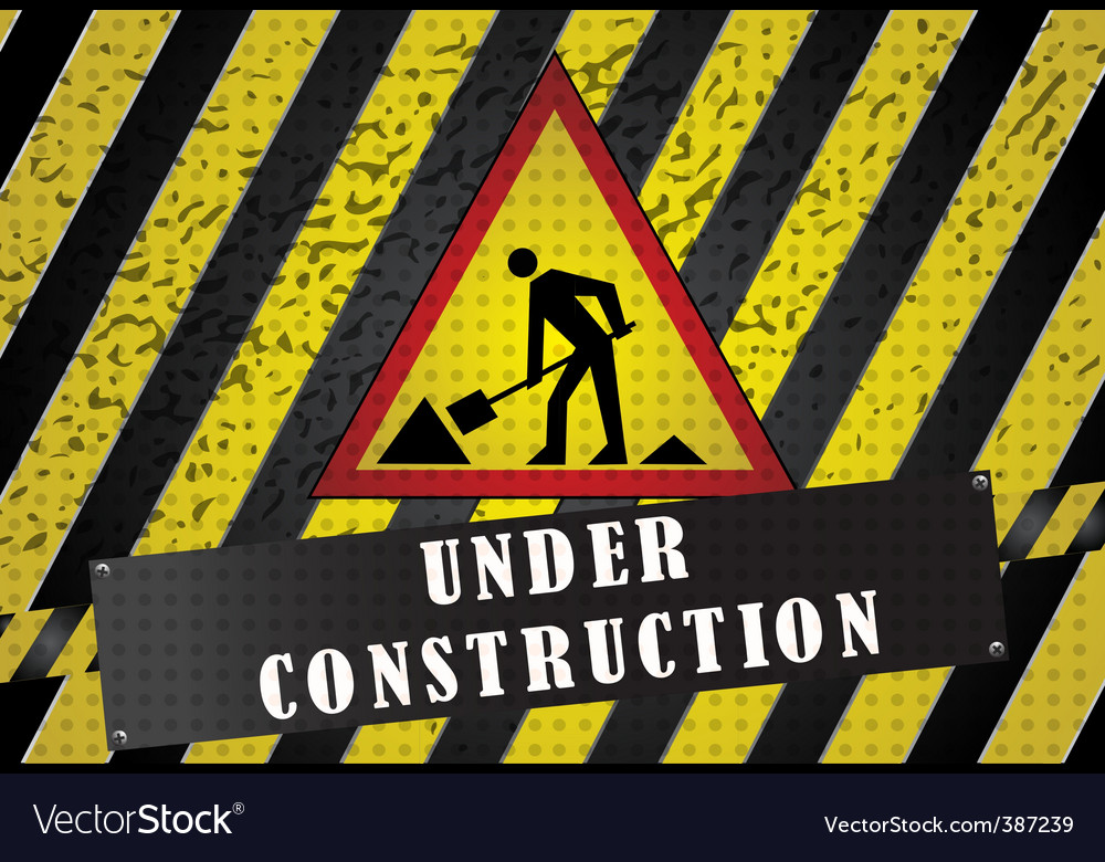 Road works background vector image