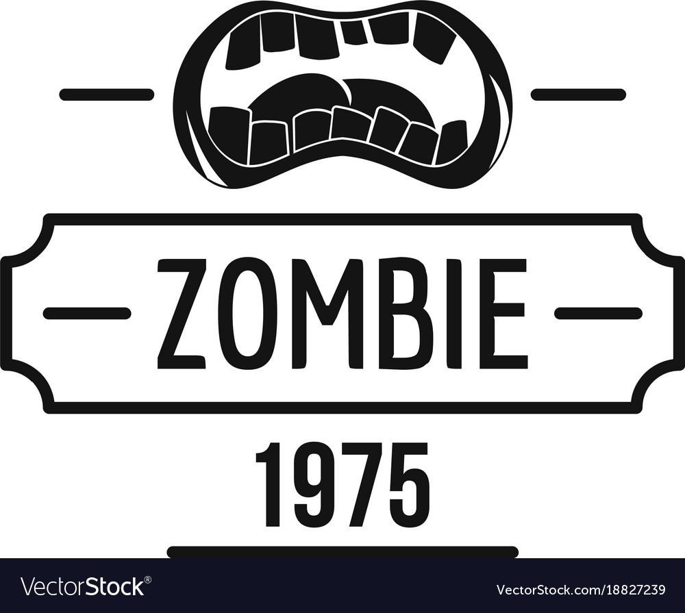 Zombie nightmare logo simple black style