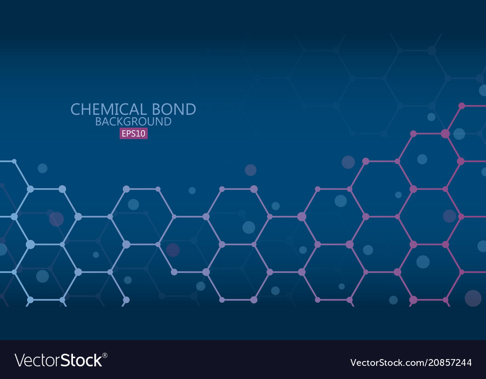 Abstract chemical bond background science vector image