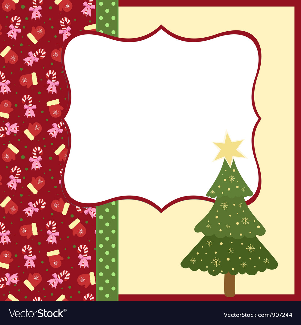 Blank template for christmas greetings card vector image m4hsunfo