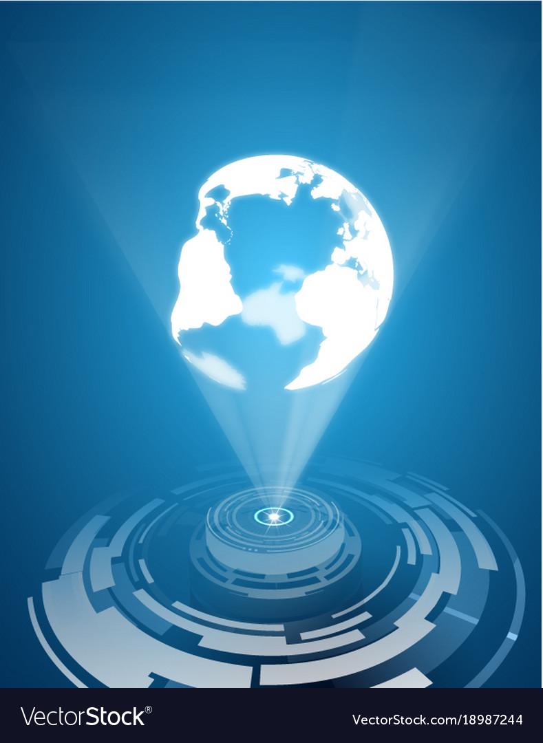 Earth hologram background