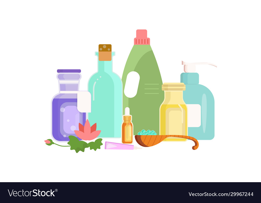 Homeopathic Substances Banner Royalty Free Vector Image