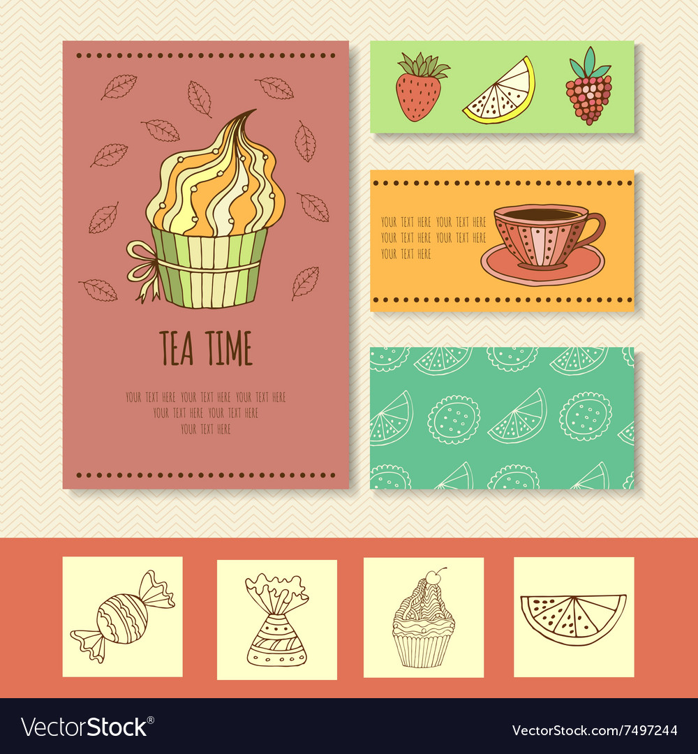 Invitation card for mad tea party or cute funny