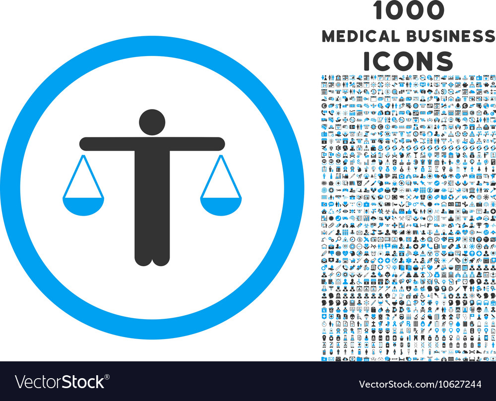 Lawyer Rounded Icon with 1000 Bonus Icons
