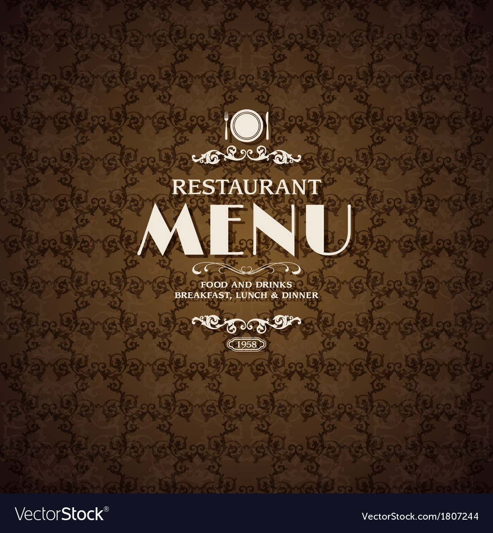 restaurant cafe menu cover template royalty free vector